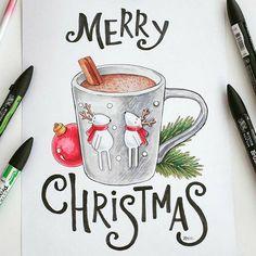 Christmas Doodles, Merry Christmas Wishes, Christmas Drawing, Christmas Paintings, Christmas Art, Christmas Sketch, Xmas, Illustration Noel, Christmas Illustration