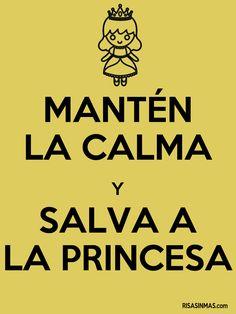 Mantén la calma y salva a la princesa.