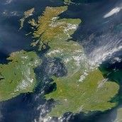 The UK from space