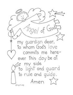 guardian angel prayer coloring pages   Guardian Angel coloring page   Sunday School Coloring ...