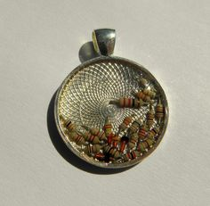 round camee necklace resistance resin silver by MarieksJewelry