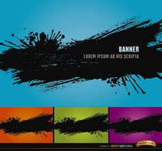 This set contains 4 backgrounds with a big black paint splatter over different colors: blue, orange, green, and purple. This grunge style backgrounds are very cool and perfect for using in promos for young people fashion products, and also for graphic design business, and more. High quality JPG included. Under Commons 4.0. Attribution License.
