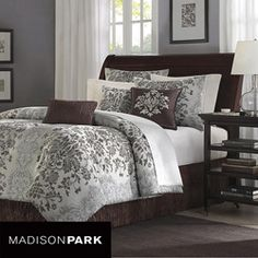 Accentuate your bedroom decor with this regal Carrington 7-piece comforter set. This set includes an oversized and over-filled comforter in a beautiful, lightweight woven jacquard.
