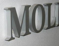 Bosletters van signletters.nl zijn onverlichte aluminium doosletters met een 3D relief van 80 - 100 mm