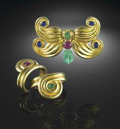 Demi-parure Papillon by Suzanne Belperron.