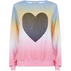 Wildfox Heart Tie Dye Sweatshirt ($160) ❤ liked on Polyvore featuring tops, hoodies, sweatshirts, tye dye sweatshirt, tie dye sweatshirt, pink jersey, tie-dye crop tops and patterned sweatshirts