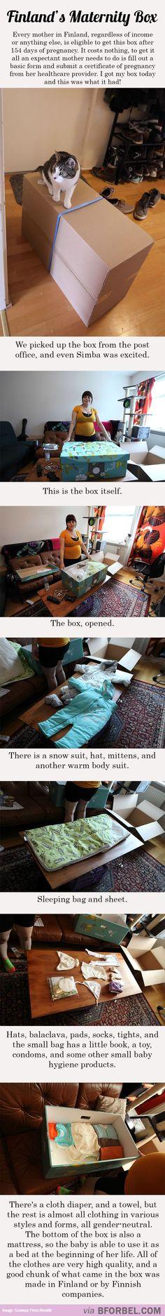 Finland's Maternity Box…