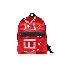 Kenzo Handbags Red Nylon Medium Kenzo Sport Backpack (£165) ❤ liked on Polyvore featuring bags, backpacks, handbags, red, nylon backpacks, sport bag, nylon sports bag, red nylon bag and red bag