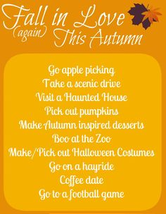 fall date ideas...replace the football game with a night at the beach house laying in front of the fireplace while watching scary movies! :)