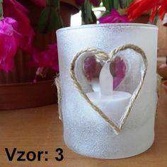 Svietnik sklenený mix vzorov - Sviečka - S čajovou sviečkou LED (plus 1€), Vzor - Vzor 3