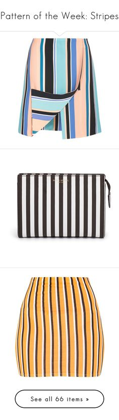 """""""Pattern of the Week: Stripes"""" by pauirh ❤ liked on Polyvore featuring skirts, bottoms, blue striped skirt, opening ceremony skirt, zip front skirt, foldover skirts, straight skirt, beauty products, beauty accessories and bags & cases"""