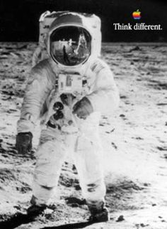 Buzz Aldrin - Think Different | Apple Computers | Pinterest | Buzz ...