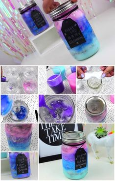How to Make Galaxy in a Jar  space aesthetic, space aesthetic stars, space aesthetic tumblr, space aesthetic pastel, space aesthetic grunge, space aesthetic outer, space aesthetic blue, space aesthetic purple, space aesthetic bedroom,space aesthetic room, space aesthetic galaxy, space aesthetic decor, space aesthetic interiors, space aesthetic beds, galaxy stuff, galaxy stuff cool, galaxy stuff to buy, galaxy stuff to buy, galaxy stuff for bedroom, galaxy stuff awesome Diy Crafts For Girls, Cute Crafts, Crafts To Do, Diy Galaxy Jar, Galaxy Crafts, Galaxy In A Jar, Mason Jar Diy, Mason Jar Crafts, Bottle Crafts