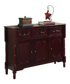 This Cherry Three-Drawer Console Table is perfect! #zulilyfinds