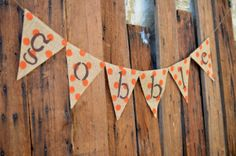 READY TO SHIP gobble burlap banner by LylaDee on Etsy, $14.00