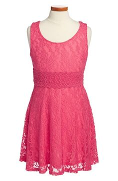 Zunie Sleeveless Lace Skater Dress (Big Girls) available at #Nordstrom