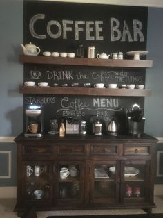 Are you looking for inspiration to design coffee bar? Check out our best collection of DIY coffee bar ideas for your home that will brighten your morning. Coffee Bars In Kitchen, Coffee Bar Home, Coffee Menu, Coffee Drinks, Coffee Bar Station, Home Coffee Stations, Tea Station, Fintorp Ikea, Coffee Bar Design