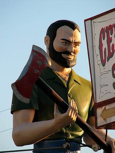 Don't make me come down off of this pole! by Vintage Roadside, via Flickr