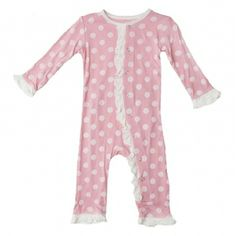 OMG!!! LOVE this one! Print Ruffle Coverall in Lotus Dot