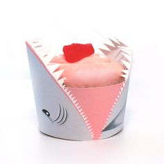 Shark Attack Printable Cupcake Wrapper. $3.50, via Etsy.