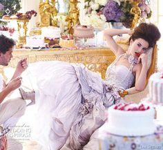 ... Antoinette inspired princess wedding dress Cartland in pale lilac600 x 553 | 113.6 KB | www.weddinginspirasi.com