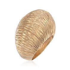 Ross-Simons - Italian Pleated Dome Ring In 14kt Yellow Gold - #785525