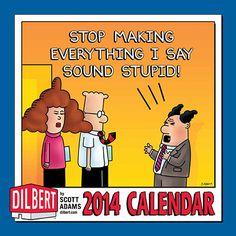 Dilbert 2014 Wall Calendar. Via calendars.com.