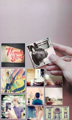 These cool magnets can be made with photos from your Instagram, camera-roll or desktop.