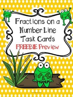 Here's a set of fraction task cards that will help your students learn how to read fractions on a number line. Includes 6 task cards and the recording sheet.my kiddos freeze at the sight of a fraction. 3rd Grade Fractions, Teaching Fractions, Fifth Grade Math, Math Fractions, Teaching Math, Maths, Grade 3, Multiplication, Fourth Grade