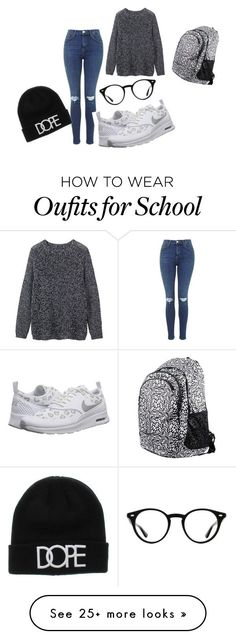 """Back to school!!"" by aminahurtic on Polyvore featuring Toast, Ray-Ban, NIKE, women's clothing, women's fashion, women, female, woman, misses and juniors"