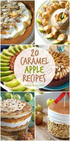 20+ Caramel Apple Recipes! SO many delicious recipes perfect for fall festivities!! { lilluna.com }