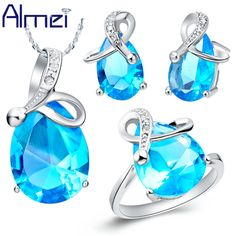 Find More Jewelry Sets Information about Almei 925 Sterling Silver with Big Stone Crystal Earring Necklace Ring Jewelry Set for Wedding Bridal Accessories casamento T070,High Quality accessories for ipod nano,China accessories spikes Suppliers, Cheap accessories bmw from ULove Fashion Jewelry Store on Aliexpress.com