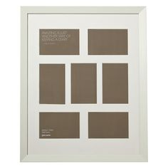 Buy John Lewis Multi-aperture Gallery Frame, White, 7 Photo, 4 x x from our Photo Frames & Accessories range at John Lewis & Partners. Wooden Picture Frames, Frame Display, Aperture, John Lewis, Wall Mount, Gallery Wall, Contemporary, Pictures, Stuff To Buy