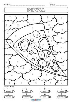 Free Fall Coloring Pages, Printable Coloring Pages, Coloring Pages For Kids, Free Coloring, Coloring Books, Colouring, Kindergarten Colors, Preschool Colors, Numbers Preschool