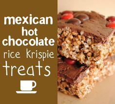 love grown up bourbon caramel rice krispie treats with dark chocolate ...