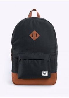 00f76bc957e Herschel Supply Co. Heritage Bag - Black   Tan Bolsos Para Hombre