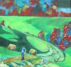 Erntehelfer Helfer, Painting, Harvest, Painting Art, Paintings, Paint, Draw