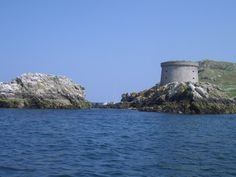 Ireland's Eye: the martello tower on the western side