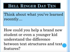 The Power of the Old-Fashioned Bell Ringer — Language Arts Teachers