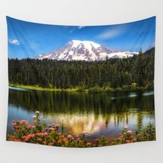 Mt. Rainier, Reflection Lake Wall Tapestry