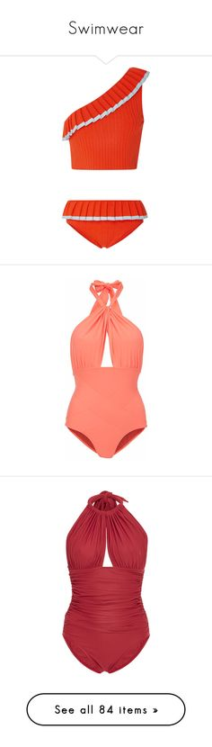 """""""Swimwear"""" by valforeverblue ❤ liked on Polyvore featuring swimwear, one-piece swimsuits, swimsuits, bikini, swim, bathing suits, slimming one piece swimsuit, low-back one-piece swimsuits, swim bathing suits and swim wear"""