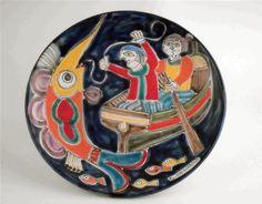 LaFabbrica della Ceramica   piatti firmati  artist S. Desimone  Sicilia