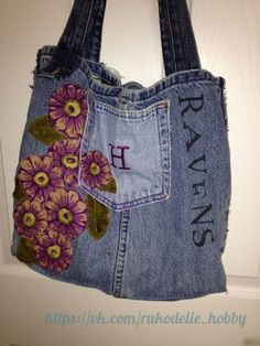Mobile LiveInternet Handbags from old jeans. A lot of ideas for inspiration. Jean Crafts, Denim Crafts, Old Jeans Recycle, Tote Bags, Jean Purses, Denim Handbags, Denim Purse, Denim Ideas, Recycled Denim