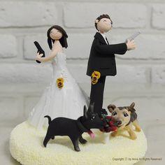 Police Agent Law inforcement custom wedding cake by annacrafts, $220.00