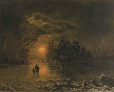 Eisvergnügen by Joseph Heydendahl (1844-1906)