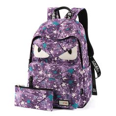 Fashion Demon Eyes Canvas Women Backpack Schoolbags Backpacks For Teenage Girls 14 inch Laptop Backpack Mochilas Feminina. Yesterday's price: US $43.20 (35.41 EUR). Today's price: US $27.22 (22.30 EUR). Discount: 37%.