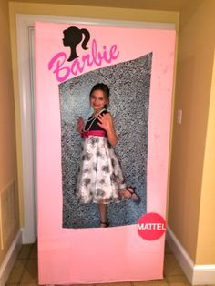 Annabelle's Vintage Barbie in Paris 8th Birthday Party! Barbie Box - we took a photo of each girl in the box, printed them out during the party, and then the girls did a frame craft to put their photos into!