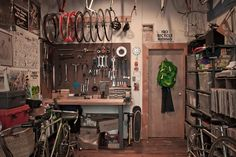 I want my new room to be inspired by a bike shop