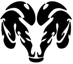 dodge ram head emblem garage decor wall decal by hottopicdecals - Dodge Ram Logo