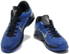 http://www.asneakers4u.com Nike Zoom Kobe 7 Elite Shoes Royal Blue/Black